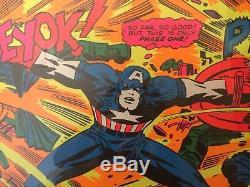 CAPTAIN AMERICA VINTAGE Marvel THIRD EYE BLACK LIGHT Poster Beautiful 1971