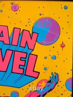 CAPTAIN MARVEL A HERO MARVEL THIRD EYE Black light poster TE4004 GENE COLAN
