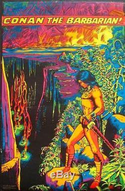 CONAN THE BARBARIAN MARVEL THIRD EYE BLACK LIGHT poster BARRY WINDSOR SMITH