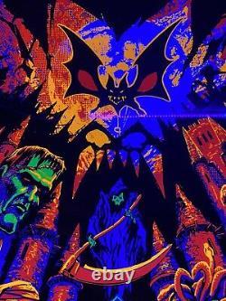 Castlevania Blacklight Poster 18x24 Konami Black Light Nintendo