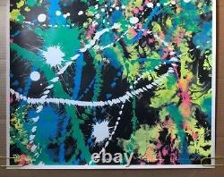 Celestial Happening Original Vintage Poster Psychedelic Pollock style abstract