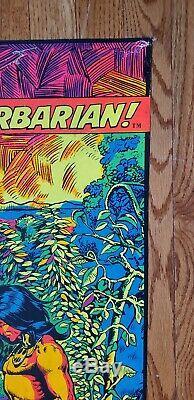 Conan the Barbarian Third Eye Black Light Poster 1971 Marvel Barry W. Smith