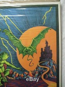 Condemned Black Light Psychedelic Vintage Poster Garage 1972 Cng1110