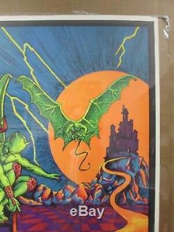 Condemned Vintage Black Light Poster 1973 Inv#G3646