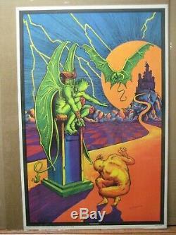 Condemned Vintage Black Light Poster 1973 Inv#G6049