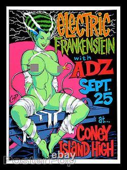 Coop CP98-06 Electric Frankenstein 1998 Silkscreen Poster Sexy Bride Blacklight