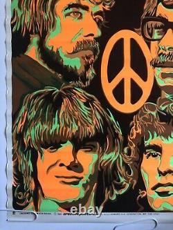 Creedence Clearwater Revival Vintage Blacklight Poster 1970 Pinup Beeghly CCR