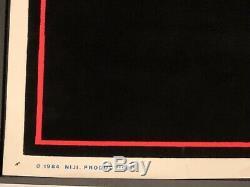 DIO HOLY DIVER Black Light Blacklight Velvet Poster Original 1984 Funky #809