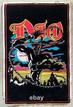 DIO rare black light POSTER Holy Diver Ronnie James Dio Black Sabbath/Rainbow