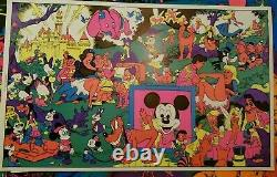 DISNEYLAND AFTER DARK ORGY 1960's VINTAGE BLACKLIGHT POSTER By WOLLY WOOD -NICE