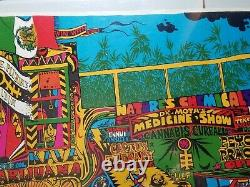DR MOTOS DOPE SHOW 1968 VINTAGE PSYCHEDELIC POSTER By Jim Phillips NICE 20x28.5