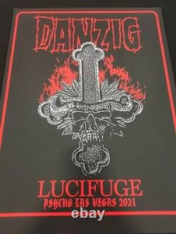 Danzig Psycho Las Vegas Poster Lucifuge II new black light gorgeous limited rare