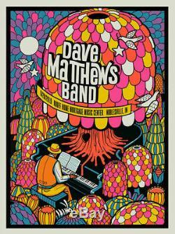 Dave Matthews Band N1 Blacklight Poster Noblesville Indiana 6/28/19 Deer Creek