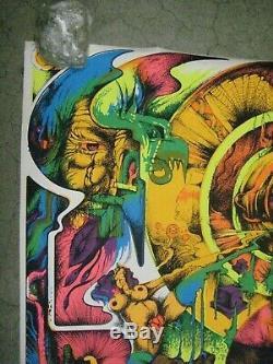 Demons 1971 black light poster vintage psychedelic Rare C189