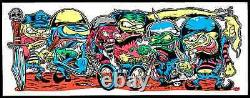 Dirty Donny Motor Cycle Gang Silkscreen Art Print Poster 2009 Ed Roth Blacklight