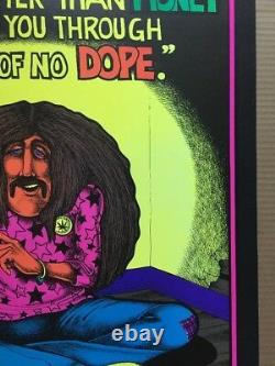 Dope Will Get You Through Times Money Smoke Weed 1971 Vintage Black light Poster