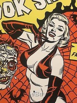 Dr Haunts Spook Show Marilyn Monroe BlackLight Horror Print Poster Mondo Movie