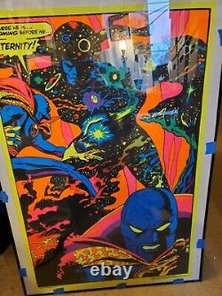 Dr. Strange Marvel Third Eye Blacklight Poster Nearmint Original 1971 Psychedalic