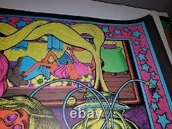 EASY EZ RIDER 1972 72 VINTAGE BLACKLIGHT NOS POSTER By PETAGNO POT SEX