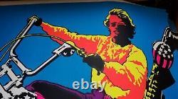 EASY RIDER 1970 VINTAGE MOTORCYCLE BLACKLIGHT POSTER Peter Fonda 29x43