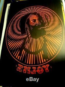 ENJOY ZIG-ZAG MAN MARIJUANA 1970's VINTAGE BLACKLIGHT NOS POSTER WED POT 420 N/M