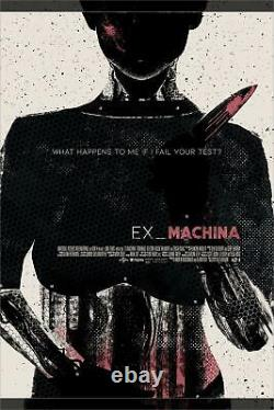 EX Machina Ava Felix Tindall Poster Screen Print Art Blacklight 18x24 Mondo
