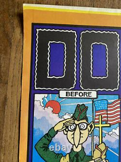 Early Vintage FABULOUS FURRY FREAK BROTHERS Dope BLACK LIGHT Poster ORIGINAL