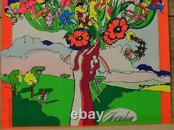 Ecology Psychedelic 1969 Rare Vintage Black Light Poster Print