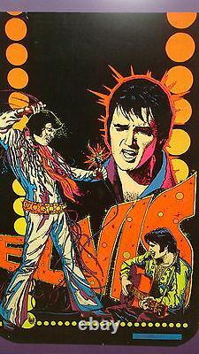 Elvis Presley Original Black Light Poster Framed 1975