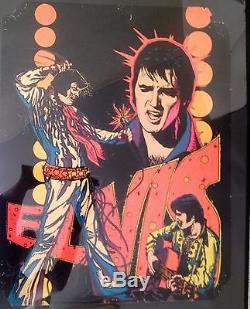 Elvis Presley Vintage Black Light Poster 1975 Dynamic Velvet