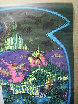 Enchanted Castle Black Light Psychedelic Vintage Poster Garage 1971 Cng797