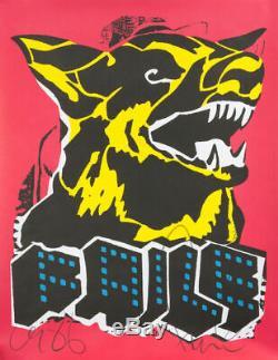 FAILE DOG Black Light SIGNED & Stamped Art Print Poster 1st Ed New York Invasion