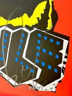 FAILE DOG Black Light Signed & Stamped Art Print 1st Ed New York Invasion Poster