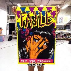 FAILE New York Invasion Art Print 2015 Deluxx Fluxx Blacklight Poster SN # 200