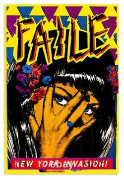 FAILE New York Invasion Black Light Signed Art Print Poster Edition of 200