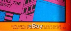 FANTASTIC FOUR WONDERFUL WORLD OF MARVEL THIRD EYE BLACK LIGHT poster Jack KIRBY