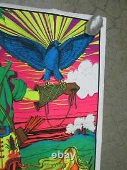 Falcon Hunter 1971 black light poster vintage psychedelic C591