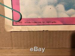 Fck A Giant Vintage Black Light Poster Neon Retro 1970s Clouds LA