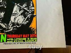 Frank Kozik 1993 Surgery Easy Rider Poster Print Blacklight #11/550 Austin Tx