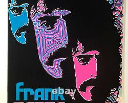 Frank Zappa Original Vintage Blacklight Poster Uncle Meat 1970 Music Beeghly