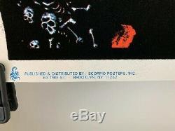 Freddy Krueger Nightmare On Elm Street Black Light Poster Hellywood Flocked