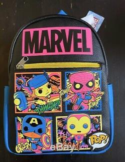 Funko Pop Marvel Blacklight BACKPACK AND POSTERS BUNDLE LOT TARGET In Hand NWT