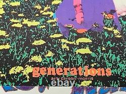 GENERATIONS 1969 VINTAGE BLACKLIGHT POSTER CELESTIAL ARTS By Carson Morris N/M