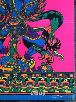 Garuda Original Vintage Blacklight Poster Third Eye Orlando Macbeth Psychedelic