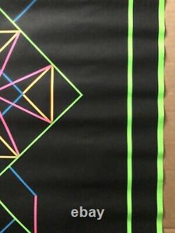 Geometric 1 Original Vintage Blacklight Poster Third Eye Roberta Bell Geometry