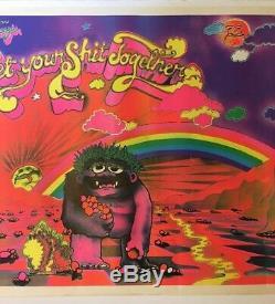 Get Your Sht Together Vintage Black Light 1970s Nancy Nino Headshop Monster 70s