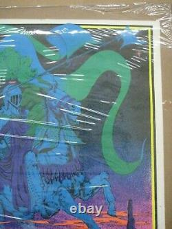 Ghost Rider 1971 black light poster vintage psychedelic motorcycle C70