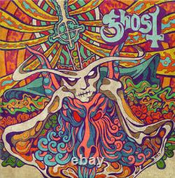 Ghost Seven Inches Of Satanic Panic 7 VINYL + BLACKLIGHT POSTER BUNDLE PAPA
