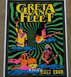 Greta Van Fleet Chicago Black Light Poster 2017 Poster 47 of 50 made Mint