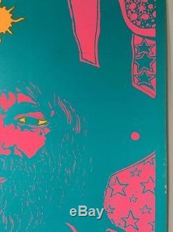 Grow Hair Vintage Blacklight Poster Dunham & Deatherage Hippy Hendrix Afro 1960s